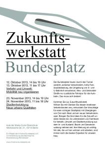 Zukunftswerkstatt Bundesplatz | Programm der ersten Werkstatt © Eleonore Harmel