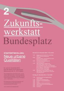 Zukunftswerkstatt Bundesplatz | Programm der zweiten Werkstatt © Eleonore Harmel