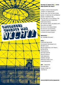 2014-08-30 Flyer: Wem gehört die Stadt