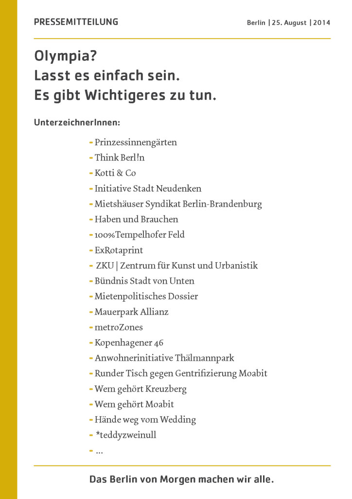 Pressemitteilung Olympia 2014-08-25