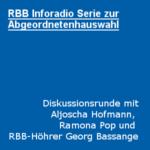 RBB Inforadio Diskussion zur Gestaltung öffentlicher Räume